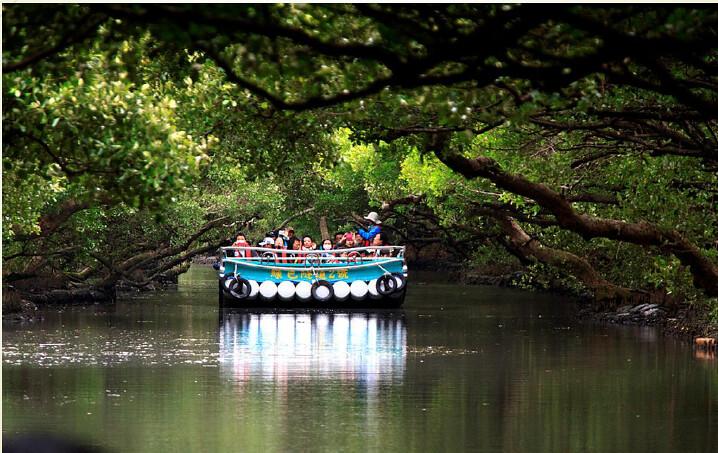 四草濕地竹筏生態旅遊。圖片來源:台灣濕地保護聯盟