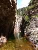La 2ème cascade du Niffru au milieu du 2ème boyau rocheux