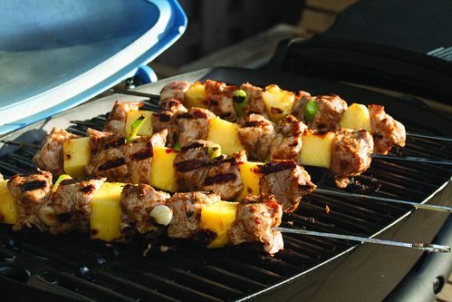 Jerk Pork and Pineapple Skewers