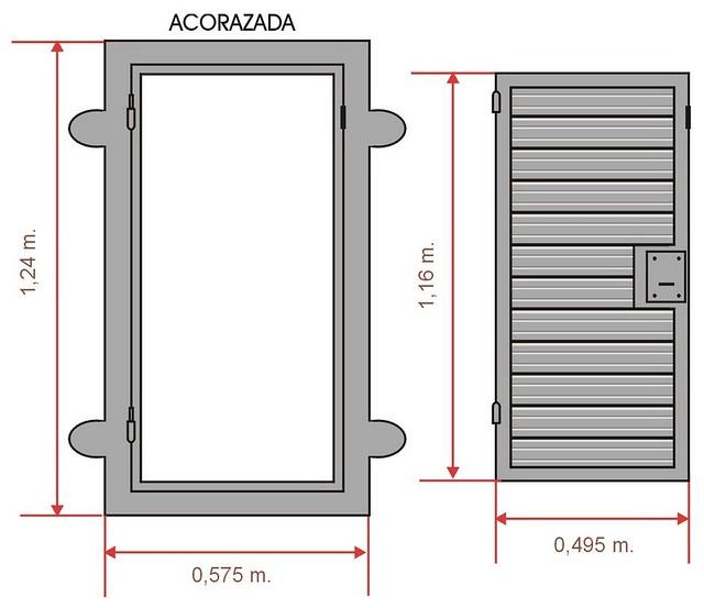 Puerta de escape acorazada para cortina metalica flickr - Cortinas para puertas ...