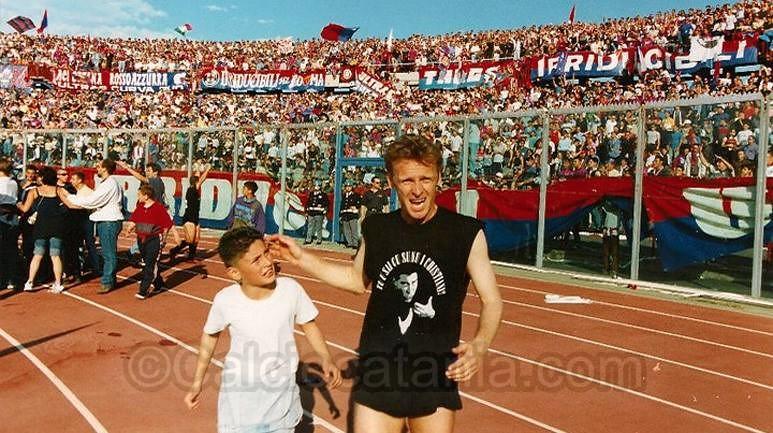 Maggio 1999: Dino Di Julio festeggia la promozione in C1 del Catania