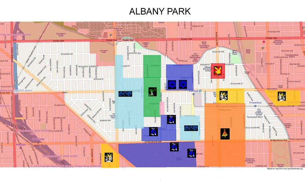 Albany Park Gang Map  Map of Albany Park Chicago  slide100100