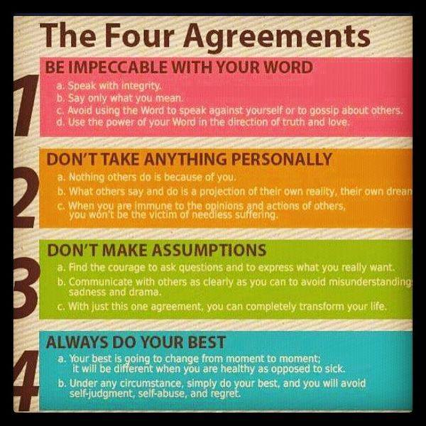 an analysis of don miguel ruizs book the four agreements Inside this instaread summary of the four agreements by don miguel ruiz summary and analysis of a book in 15 minutes we read every chapter.