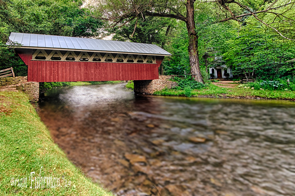 Red Mill's Covered Bridge (Color) | This bridge is located ...