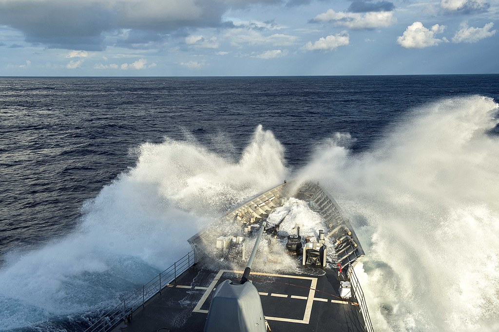 uss chancellorsville transits the philippine sea as part o