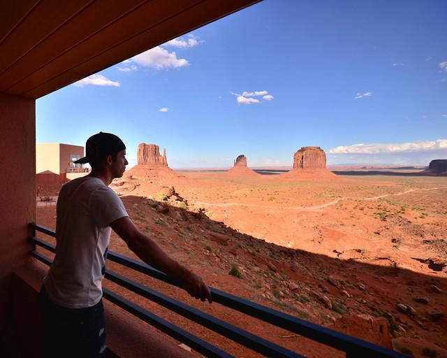 Vistas de nuestro balcón desde el hotel The View en Monument Valley