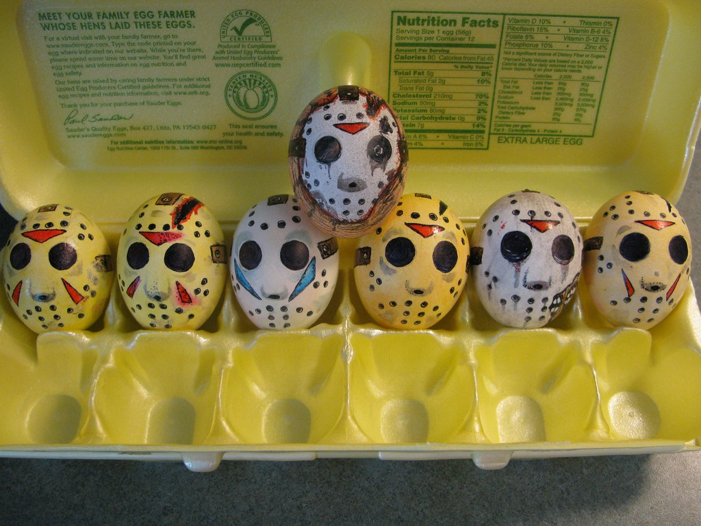 Fried egg the 13th | Every Jason mask from Friday the 13th ...