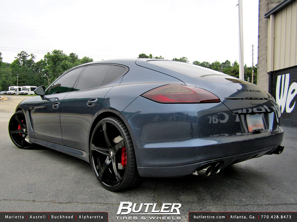 Porsche Panamera With 24in Forgiato Martellato Ecl Wheels