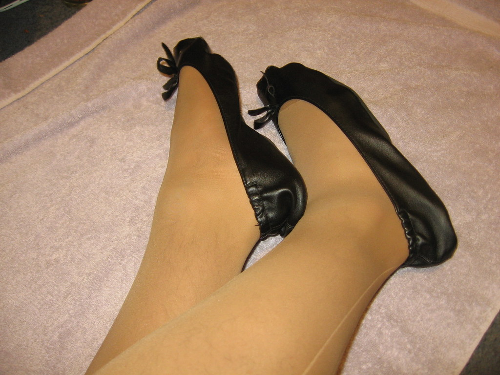 Pantyhose And Flats 40