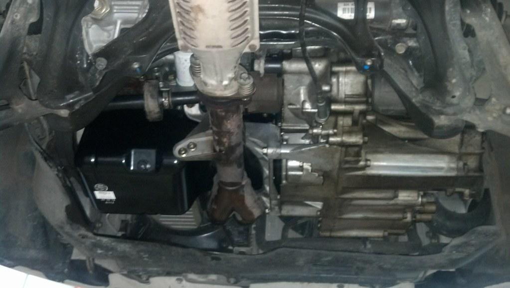 Honda Civic D16y7 Steel Oil Pan Installed On D16y8
