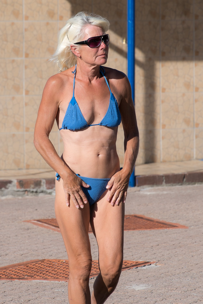 Mature woman swimsuit older