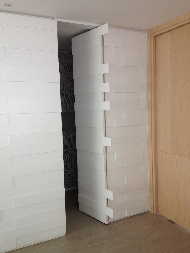 enchape de muro y puertas ocultas muro en chapado con