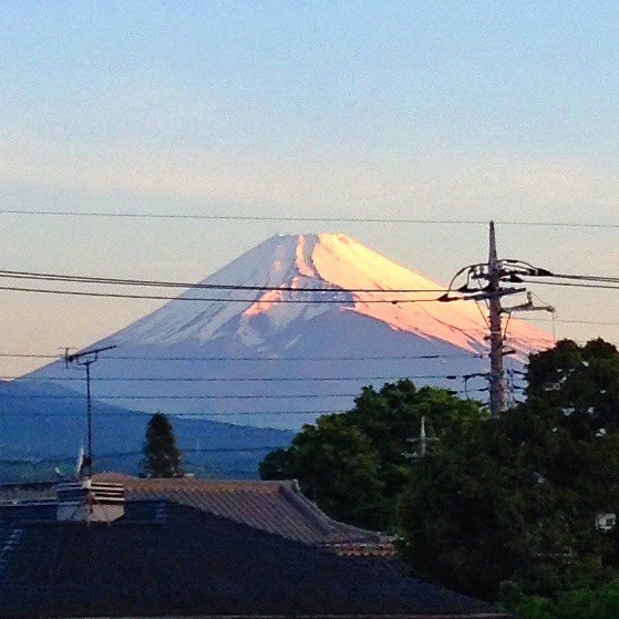 Good Morning In Japanese Yahoo : Mt fuji 富士山 good morning in shizuoka