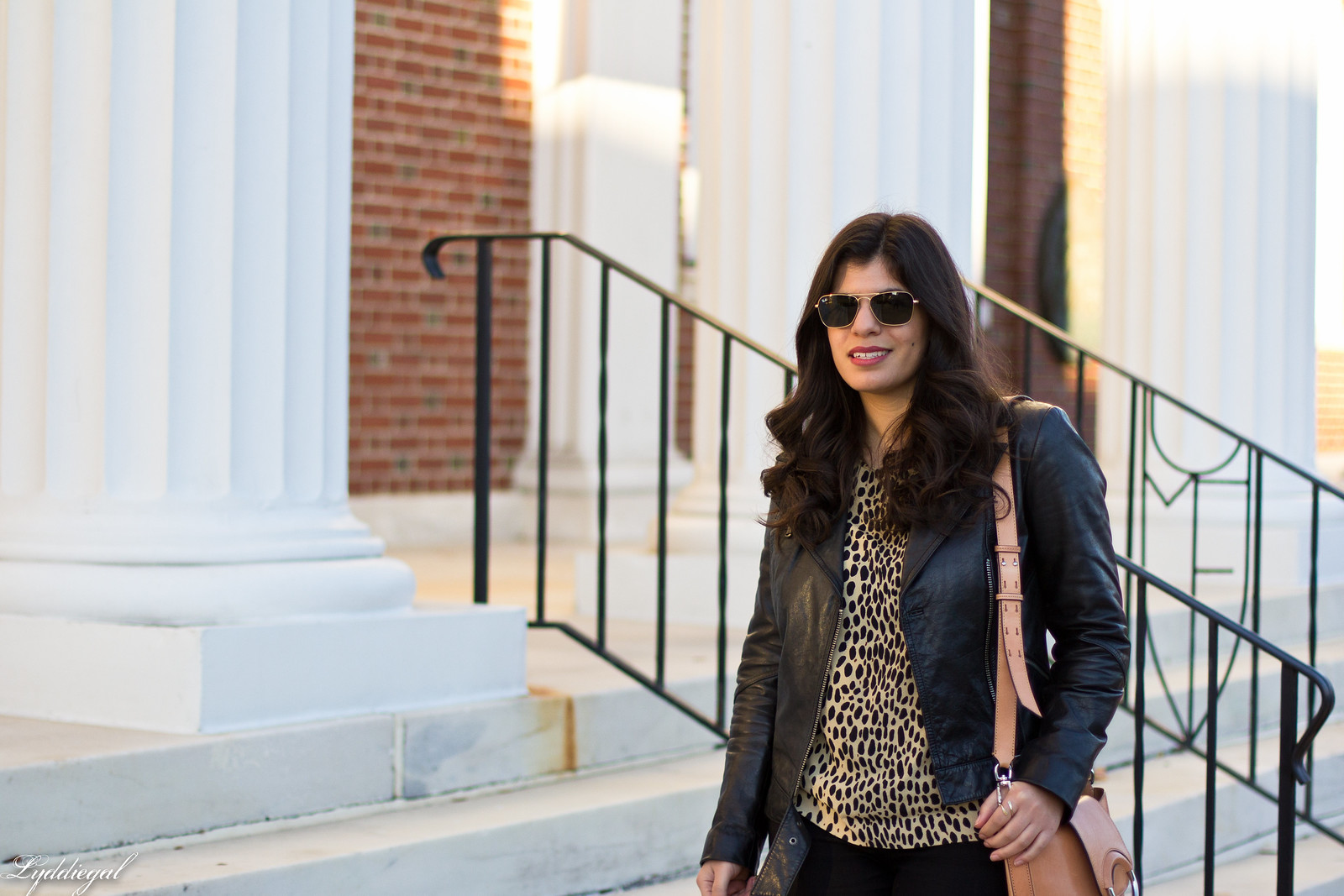 leopard print blouse, black leather jacket, black jeans-1.jpg