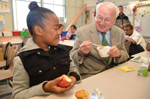 Under Secretary Kevin Concannon with student