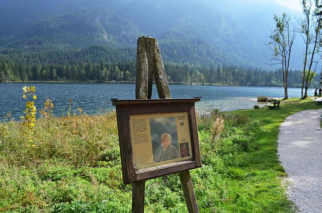 Paintings beside Lake Hintersee, Ramsau, Bavaria
