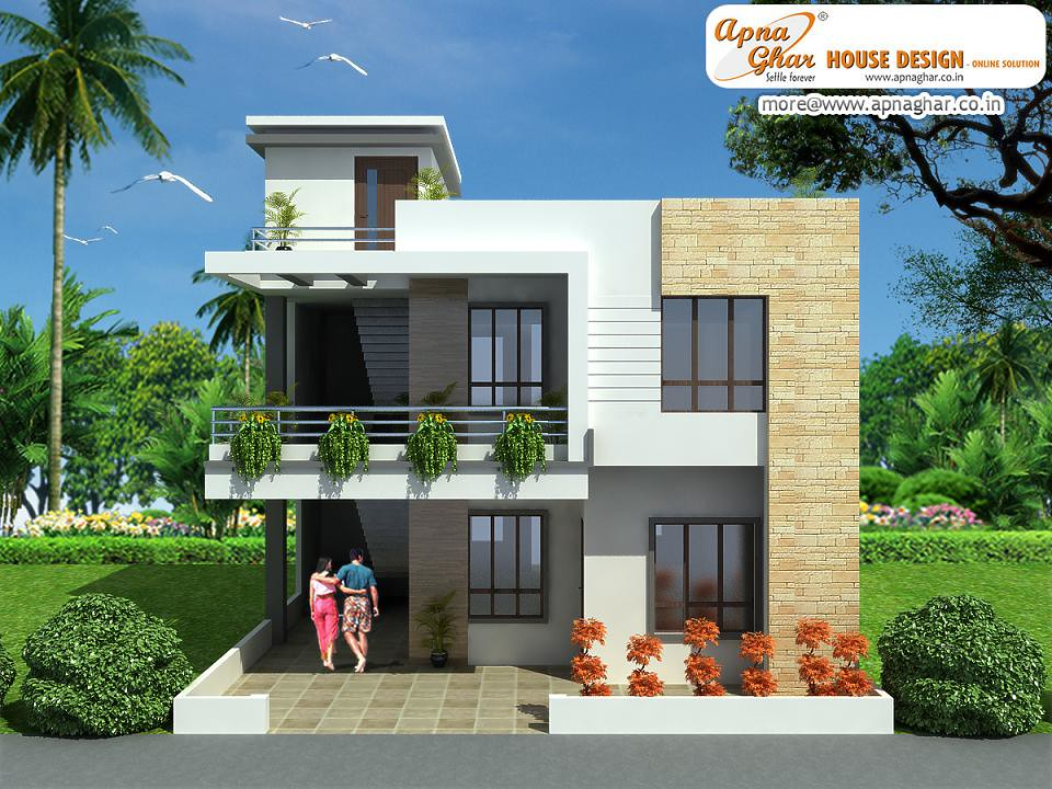 Modern duplex house design modern duplex house design for Indian home outer design