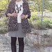 """Odette outfit: feathery Anthropologie """"Guimauve Top"""", black and white gingham pencil skirt, black tights, quilted black leather boots, black bauble bubble necklace, Noir Jewelry Dinosaur bone rib cage cuff bracelet"""