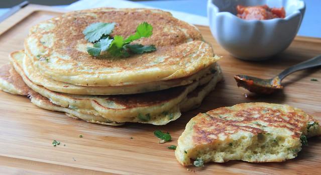 Savory Cornmeal Pancakes