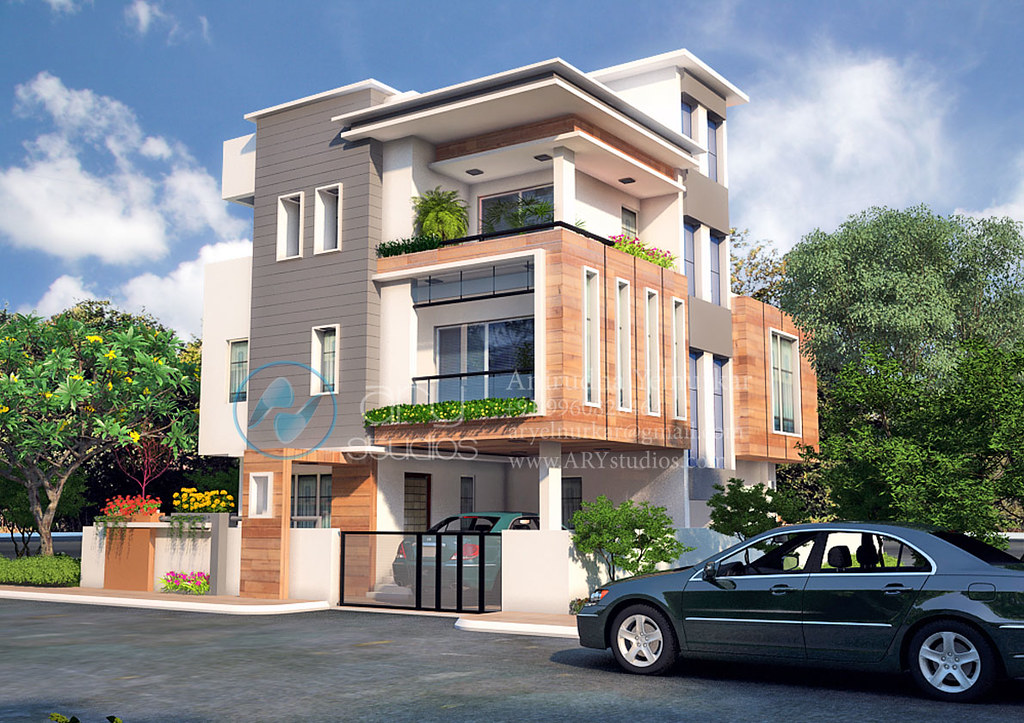 3d+bungalow+rendering+architectural+day+view+realistic | Flickr