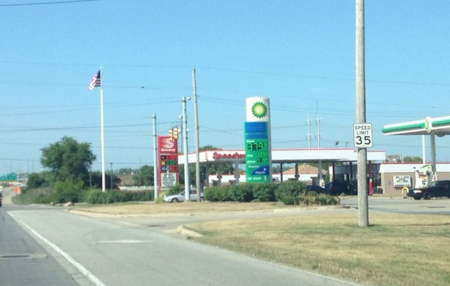 Gas prices Aug 29 2013 Griffith Indiana Janice