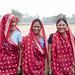 Ram Kumari Thari (far right), single mother of two children, breaks into laughter after trying to fully articulate the transformations she and her family has experienced after moving out of a near extreme poverty state. She previously worked as a daily-wa