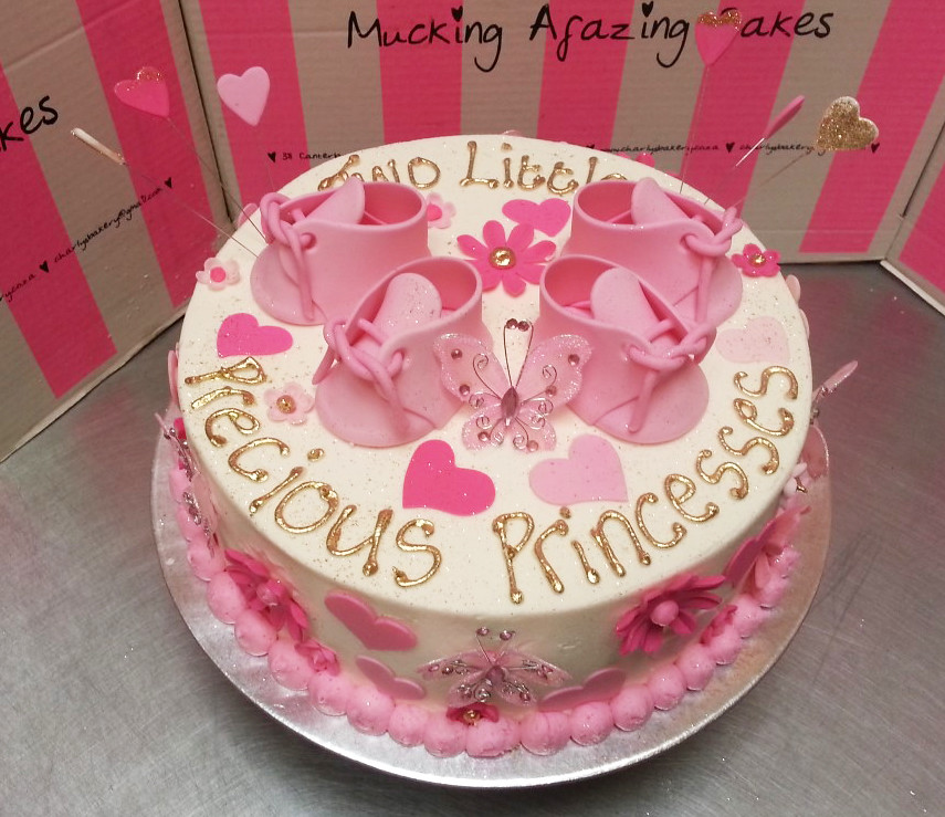 Baby shower cake for twin girls | Charly's Bakery | Flickr