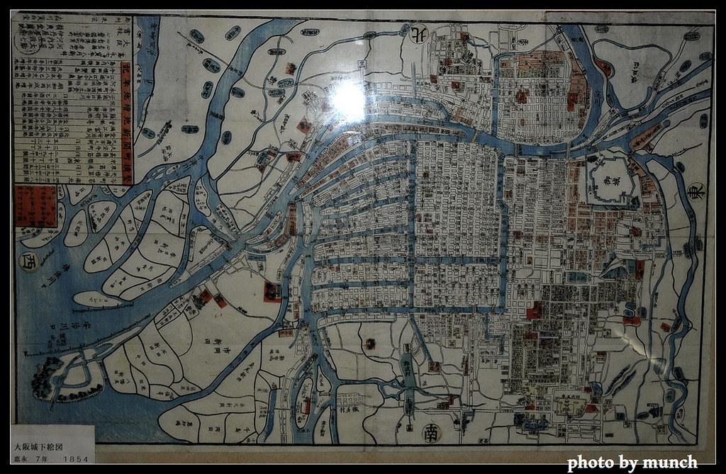 日本各地博物館展示地區水文圖,讓人思考城市發展的起源。