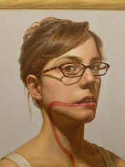 Self Portrait with an Inflamed Esophagus, portrait detail