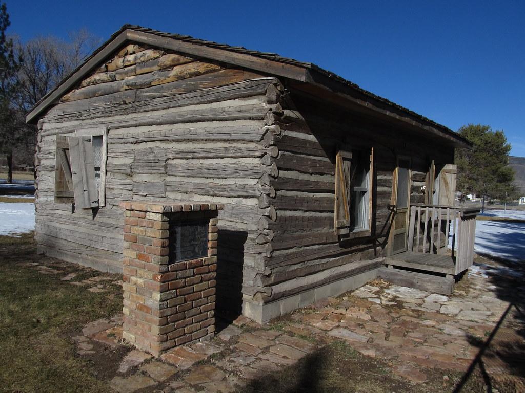 Town of joseph and pioneer log cabin marker joseph utah for Utah log cabins