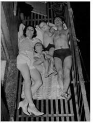 cl Nordbye-sleeping on fire escape