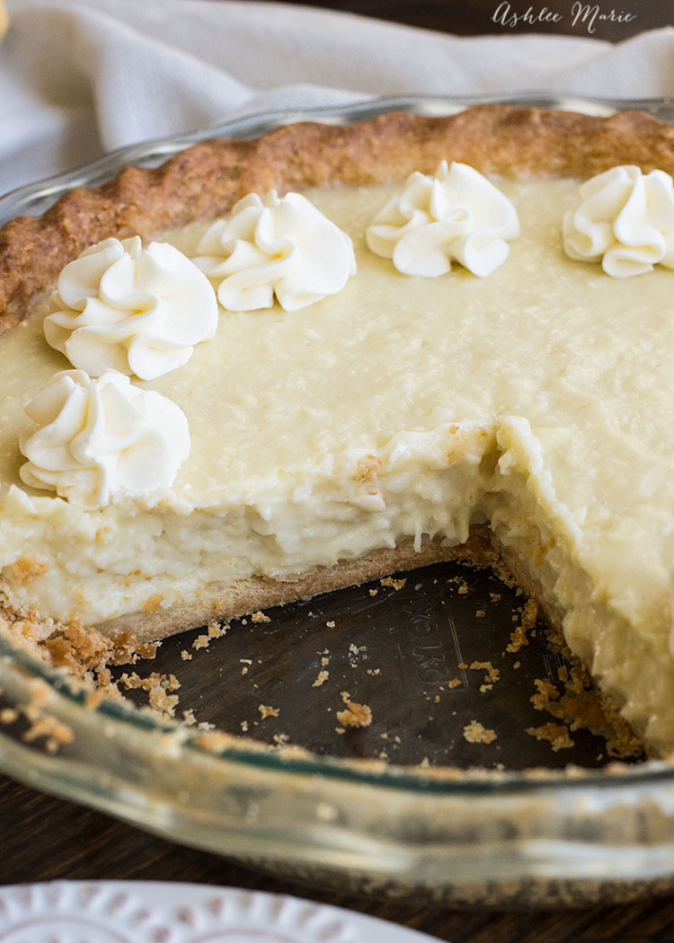 the texture on this coconut cream pie is divine and the flavor is out of this world amazing