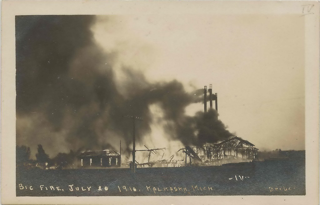 Nw Kalkaska Mi Rppc 1910 Fire Disaster On July 20th Total