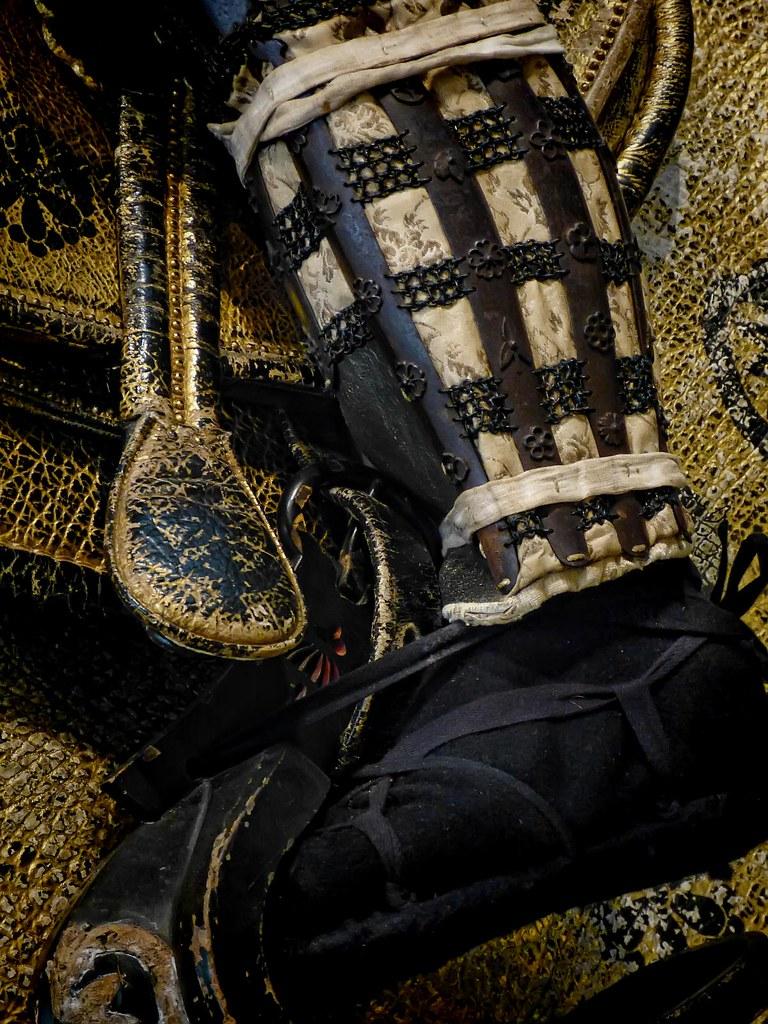 Shin Guard And Footwear Of Samurai Wearing Tachid Armor E