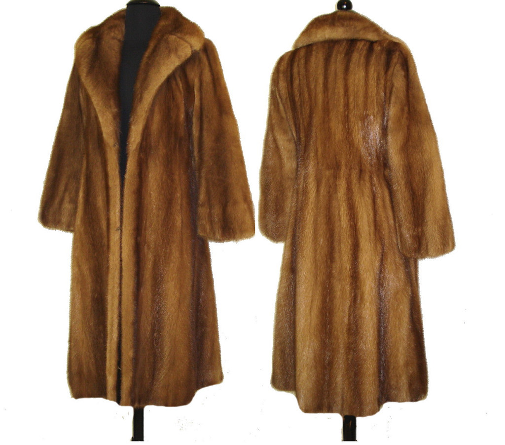 Vintage Mink Coat Full Length Real Fur Haute Couture Mad M… | Flickr