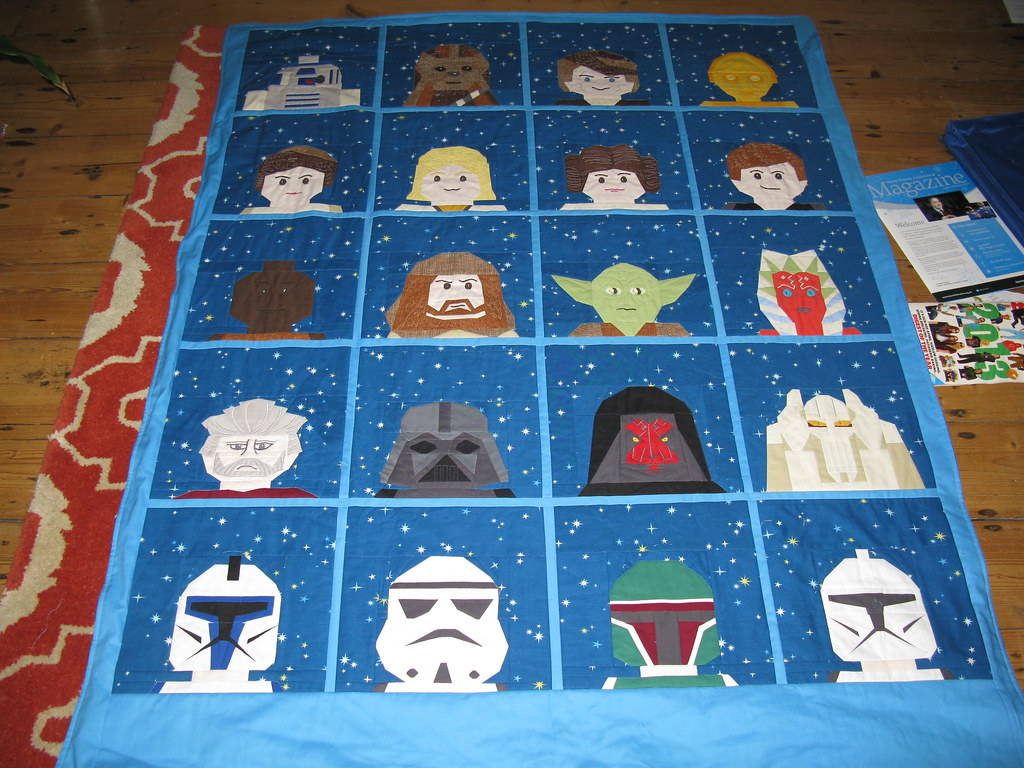 Star Wars Lego Quilt Finished Star Wars Lego Quilt