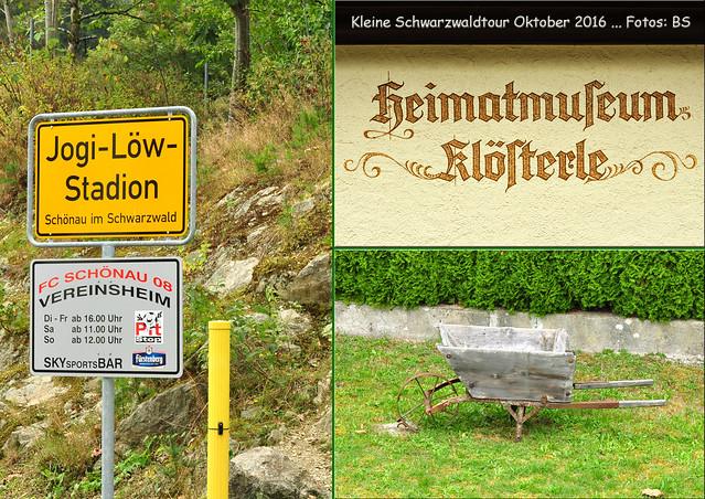 Kleine Schwarzwald-Tour, Oktober 2016 ... Luftkurort Schönau ... Jogi-Löw-Stadion ... Fotos: Brigitte Stolle