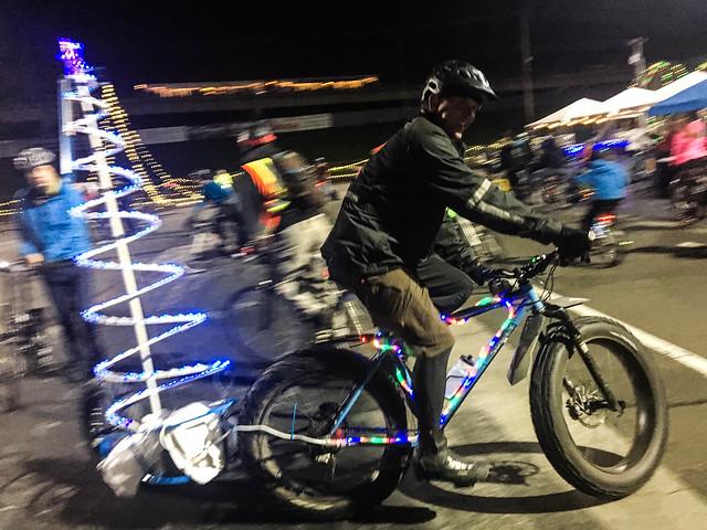 Bike the Lights night at Winter Wonderland