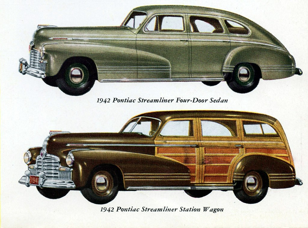 1942 Pontiac Streamliner Four Door Sedan Amp Station Wagon