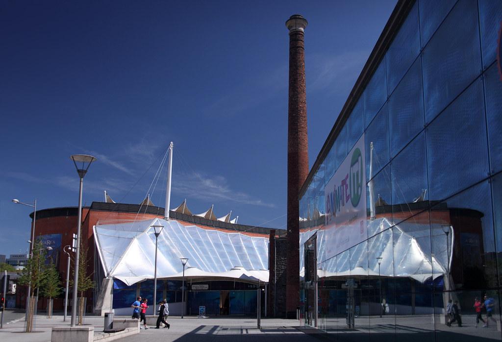 Aquarium Reflection Picture Near Millennium Square In