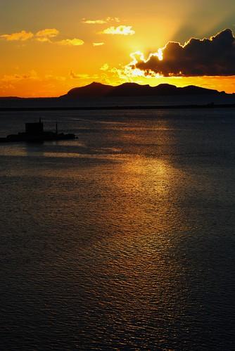 Setting Sun in the Port