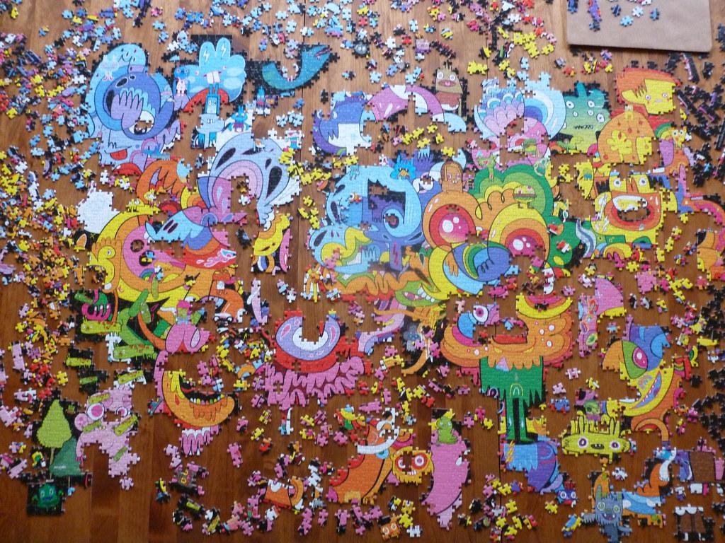 4000 piece puzzle psychedoodlic by jon burgerman heye. Black Bedroom Furniture Sets. Home Design Ideas