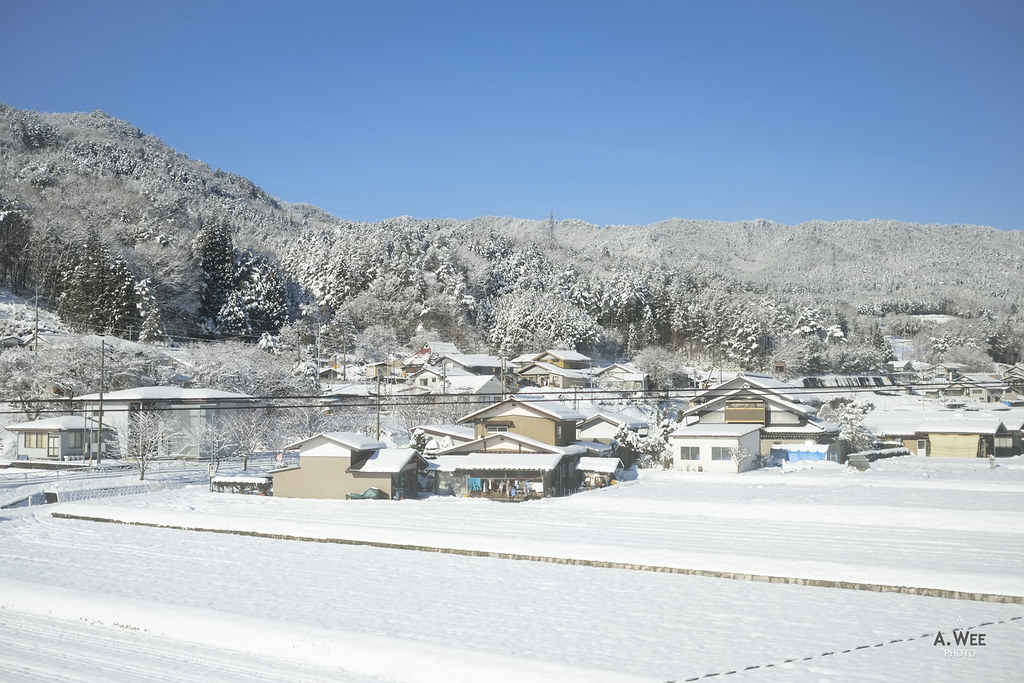 Winter landscape around Takayama