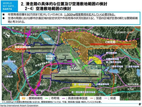 滑走路の具体的な位置及び空港敷地範囲の検討