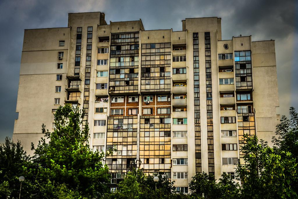 Old Communist Era Apartment Building In Sofia Bulgaria