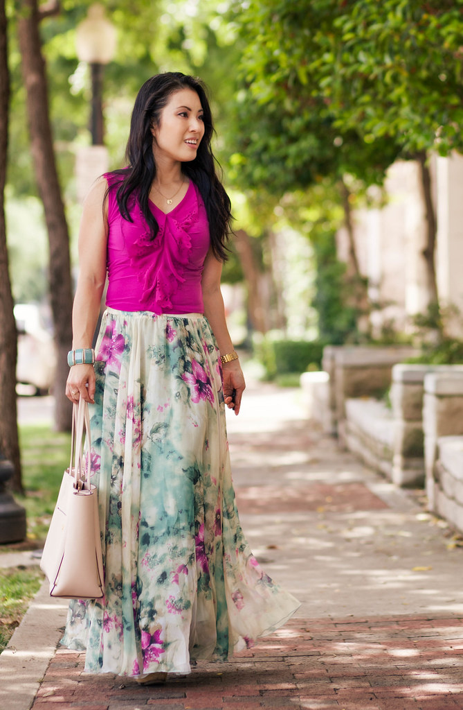 Cute little blog petite fashion radiant orchid eyele for Cute shirts for maxi skirts