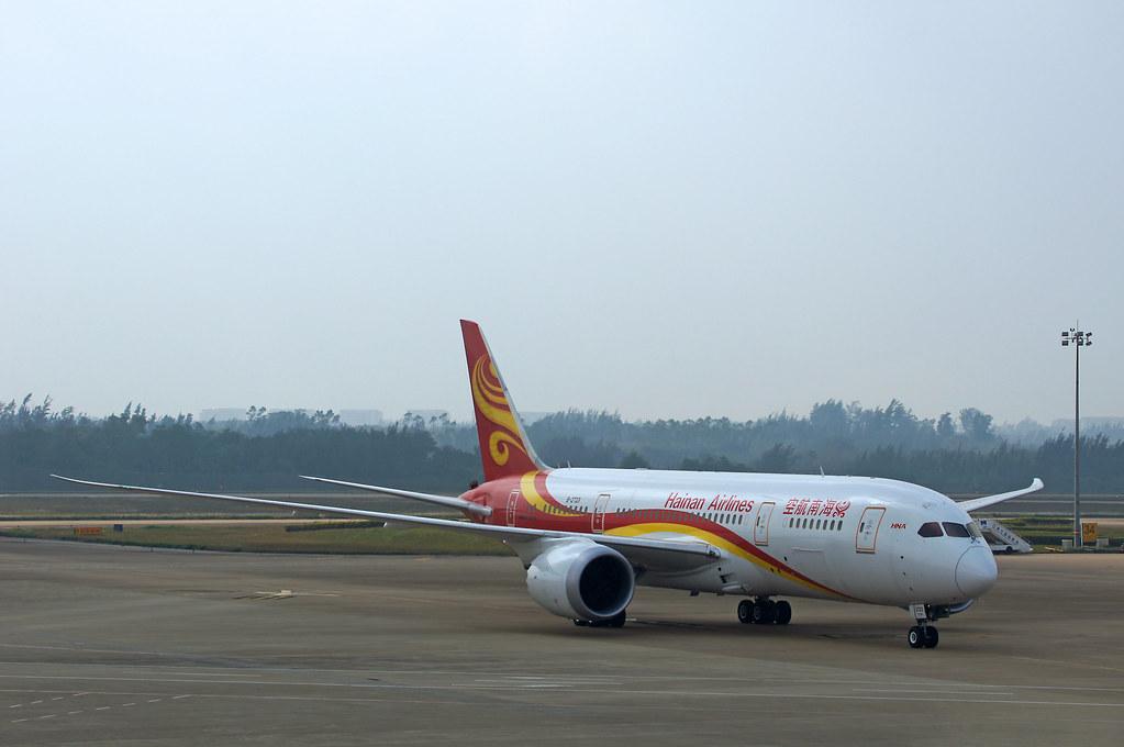 Hainan Airlines Boeing 787-8 Dreamliner B-2723 at HAK Haik ...