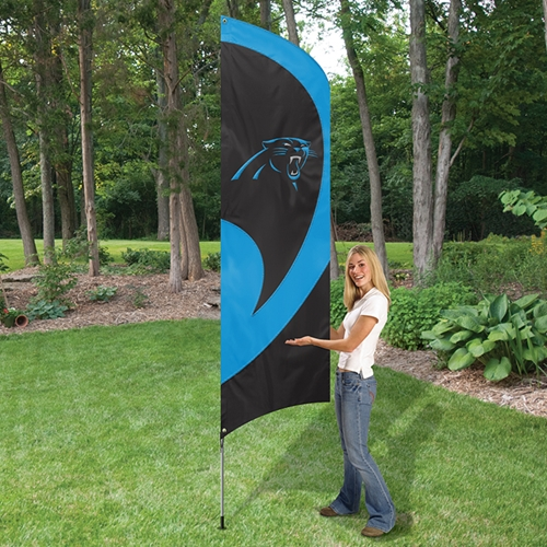 Carolina Panthers Tall Feather Flag