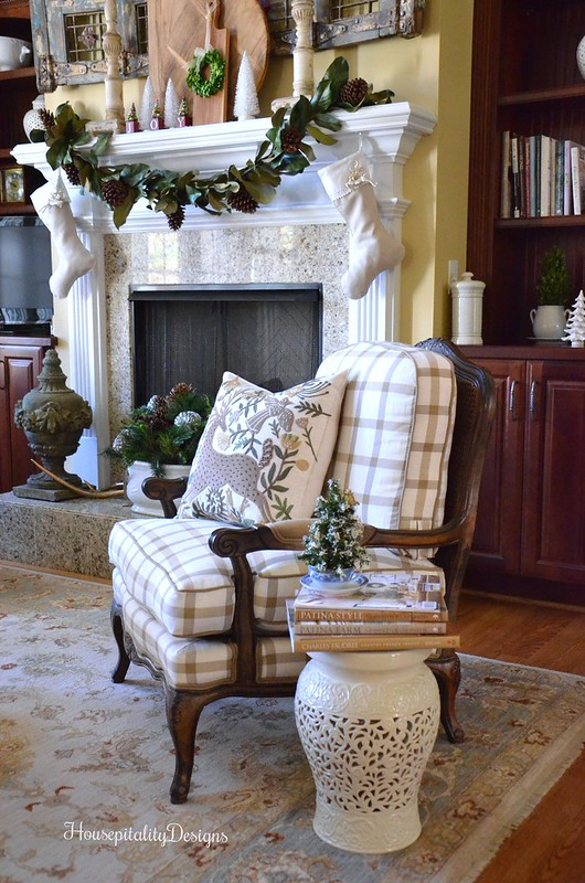 Great Room/Christmas 2016 - Mantel - Magnolia Garland - Magnolia Wreath - Housepitality Designs