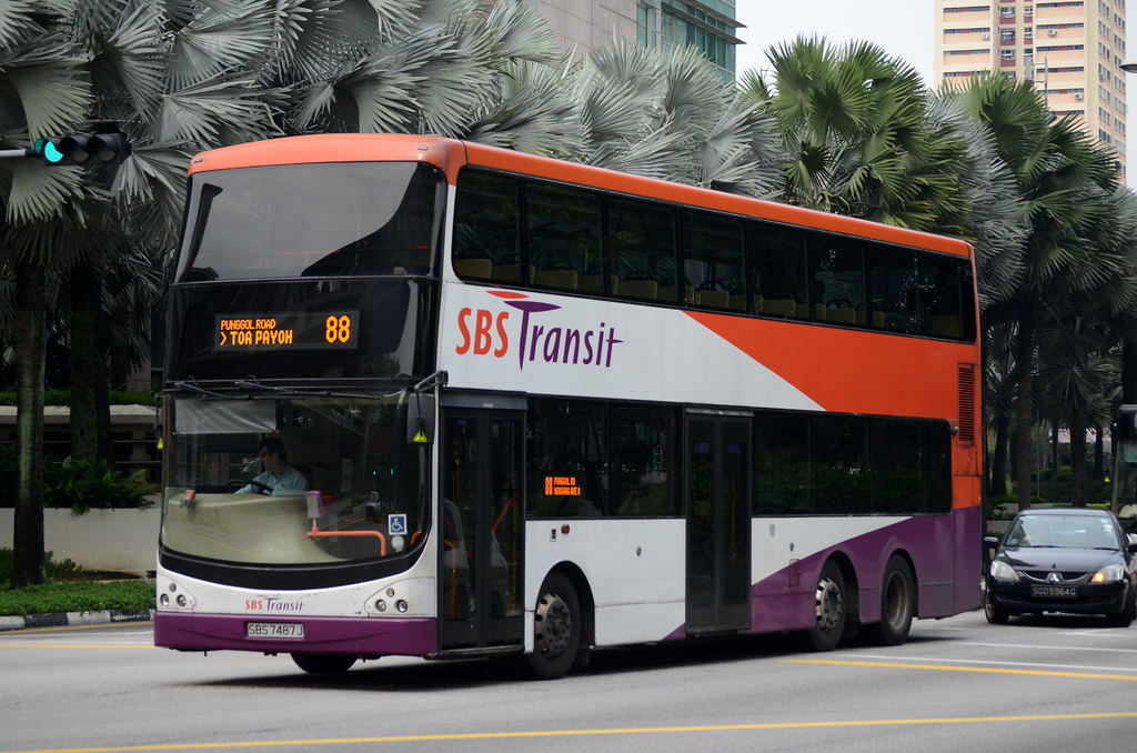 Sbs Transit Volvo B9tl Cdge Sbs7487j Nighteye Flickr